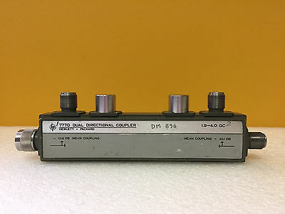 Hp 777d 1.9 To 4 Ghz 20 Db Coupling 50 W Type N M-f-f-f Directional Coupler