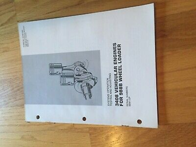 Cat 988b Wheel Loader 988 Tractor 3408 Diesel Engine Service Manual Antique 50w