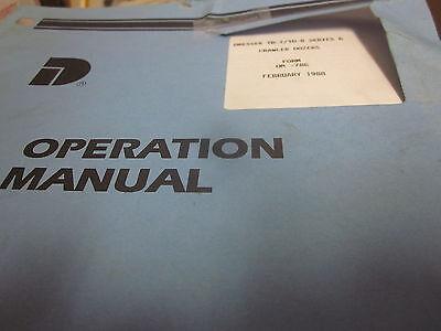 Dresser Td-7 Td-8 Series G Crawler Dozers Operation Manual