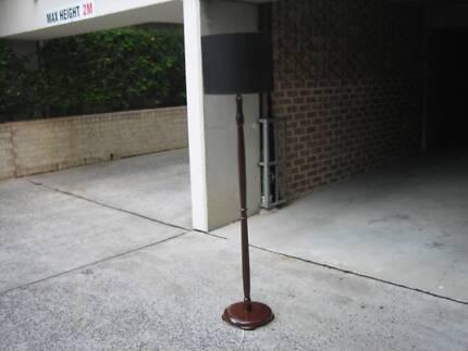 Vintage timber floor lamp.