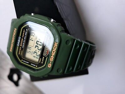 CASIO G-SHOCK DW-5600B-3V Green Speed 1991 Vintage Rare serial number engraved