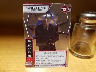 Star Wars Destiny General Grievous Spot Gloss Promo Card GQ Galactic Qualifier