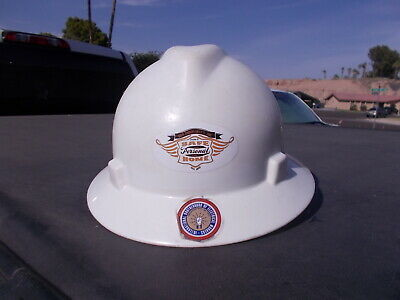 Vintage White Msa Plastic Hard Hat Helmet Electrician Safety Sz Med
