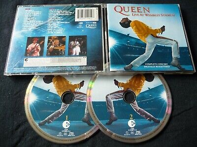 QUEEN LIVE AT WEMBLEY  2 X CD (PICTURE DISCS) 2003 WE WILL ROCK YOU ONE VISION
