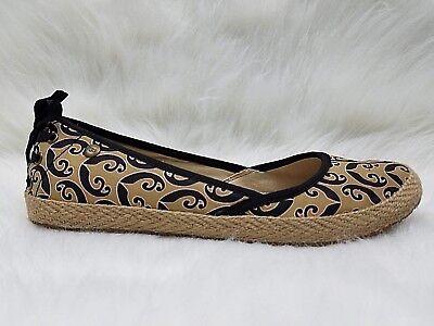 - UGG INDAH MARRAKECH Womens Tan Black Ballet Flats Espradrilles Shoes Size 7 M