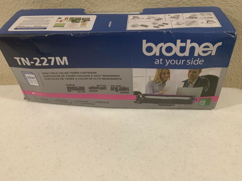 Genuine Brother TN-227M High Yield Magenta Toner Cartridge Free Shipping