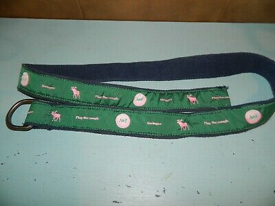 Abercrombie & Fitch A & F Golf D Ring Green Belt One Size