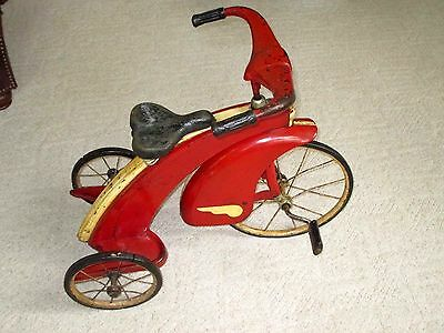 1920-30S- GENDRON-PIONEER STYLE- AIRFLOW SKIPPY TRICYCLE-ORG-STREAMLINED TOY