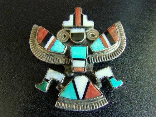 Vintage Silver Zuni Knifewing Pin-Alonzo Hustito