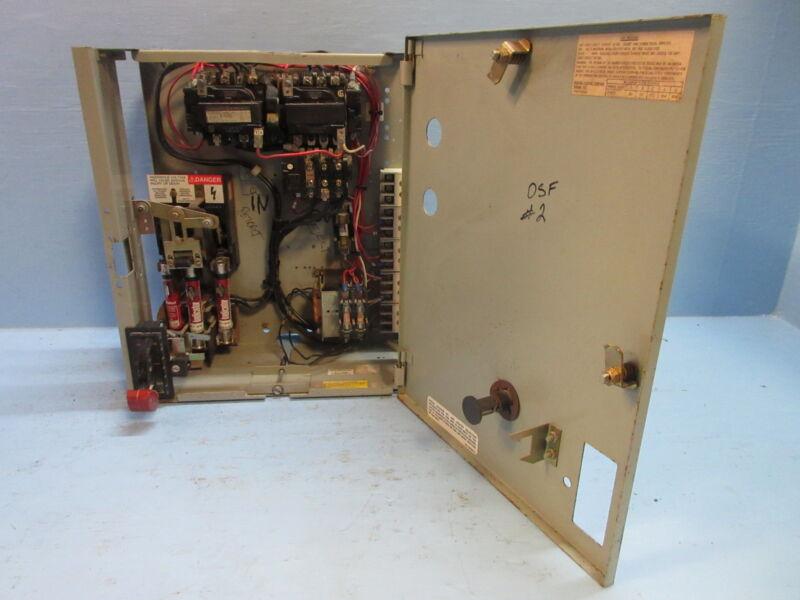 General Electric GE 8000 600V Size 1 Reversing Starter 30 Amp Fusible MCC Bucket