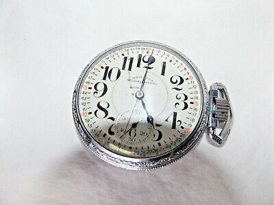HAMILTON RAILWAY SPECIAL POCKET WATCH 17 Jewel Threaded Back Defiance not workng