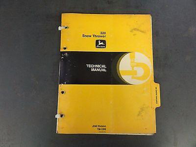 John Deere 320 Snow Thrower Technical Manual Tm-1209