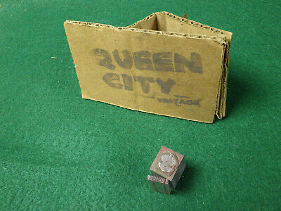 Vintage Lead Letterpressletter Presslinotypetype Blocks Buick Crest 1940s 50s