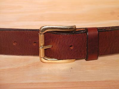 Brass Roller 38mm Wide Leather Belt Waist Size Mens Ladies Black Brown Tan Fit