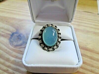 VINTAGE 925 STERLING SILVER JELLY BELLY RING SIZE 6 1/4 Jelly Silver Ring
