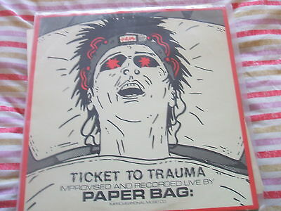 Paper Bag, Ticket To Trauma, Improvised and Recorded Live NM - Paper Bag Tickets