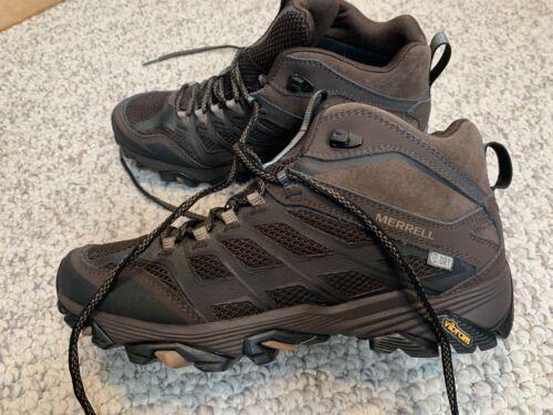 Merrell Men's Moab Waterproof Leather Mid Hiking Shoes Dark