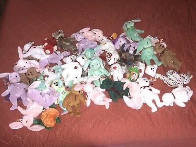 Beanie Babies Lot 40+ Mint Condition with Original Tags