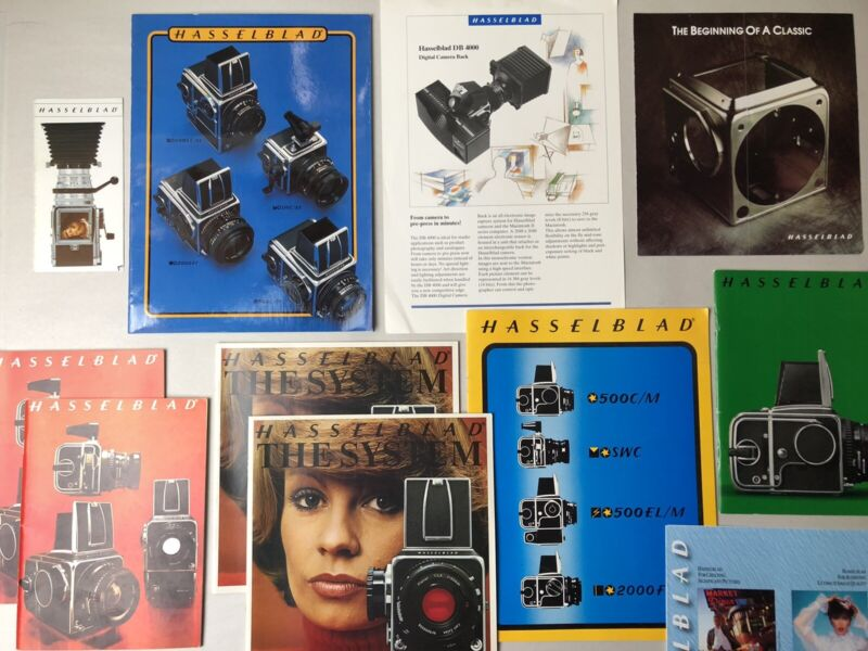 Vintage Hasselblad Camera and Accessories Catalog / Brochure Lot
