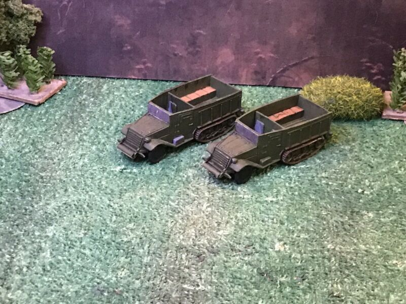 HO 1/87 Scale WWII American Armored Halftrack Troop Carriers (2)
