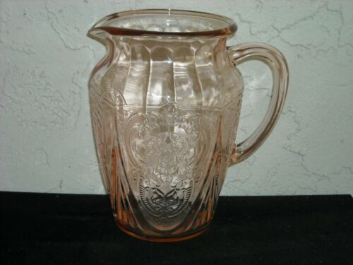 Royal Lace Pitcher, No Ice Lip  Pink