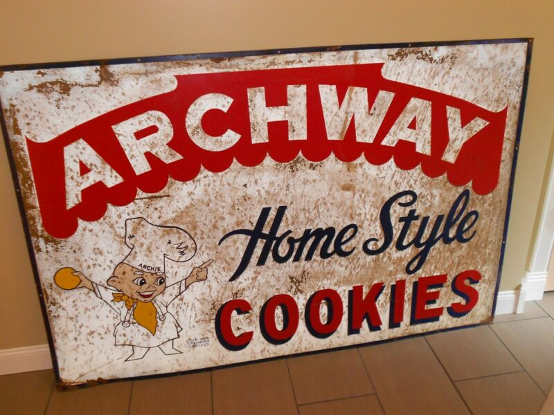 Vintage Metal Archway Cookie Sign