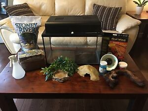 Terrarium or Aquarium tank and terrarium accessories