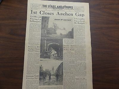 GENUINE US MILITARY ISSUE NEWSPAPER STARS & STRIPES DATED 1944-1945 WW2 EUROPE