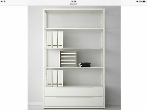 Shelving units with drawers
