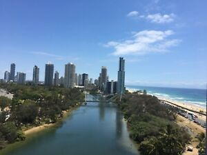 Surfers Beachfront Apartment- Double size  room - All bills: Wifi incl