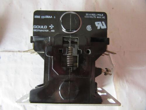 Gould 2200EB230AA6 Contactor 3P 30A 120V Coil VGC!!!