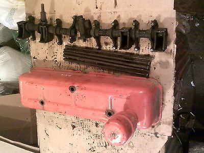 1952 Case Vac Tractor Engine Motor Rocker Arm Valve Cover Push Rods