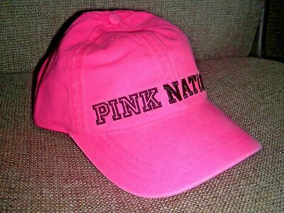 Pink Baseball Hat (Victoria's Secret Pink Nation Cap Baseball Hat)