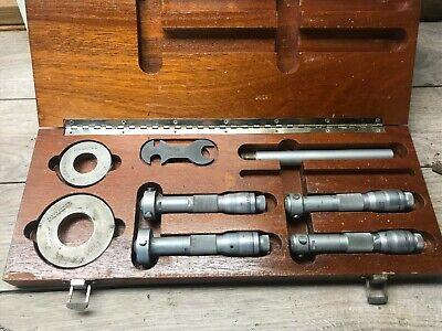 Set Of Brown And Sharpe Intrimik Inside Micrometer .8 - 1.600 .0002
