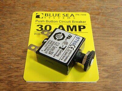 CIRCUIT BREAKER BLUE SEA PUSH TO RESET 661-7061 40 AMP 3 PAC CLB 8784 CARLING
