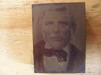 Sylvanus Dodge - Antique Historical Iowa Printing Press Block