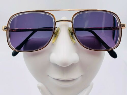 Vintage Charmant Brown Gold Titanium Aviator  Sunglasses FRAMES ONLY