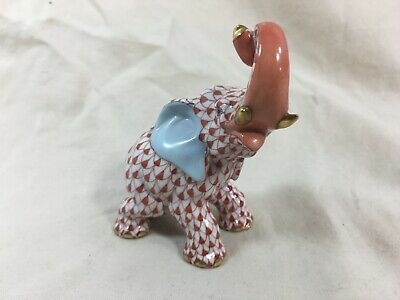 Vintage Herend porcelain fishnet elephant figurine