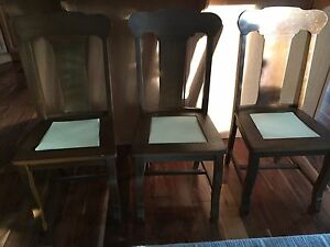 Antique Walnut Dining Table & Chairs