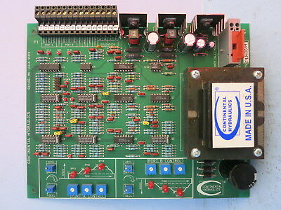 Continental Hydraulics Ecm5-r2-p12p-24c-b Assembly 552068 Plc Board Power Supply