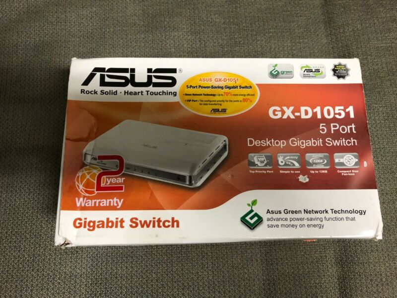 New! ASUS 5-Port Gigabit Green Switch and VIP Port GX-D1051
