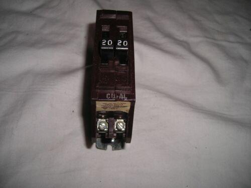 B2020NI WADSWORTH B2020 20/20 AMP 2x1POLE TWIN TANDEM DUPLEX BREAKER-METAL Foot