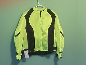 Woman's 2X neon green motorcycle coat