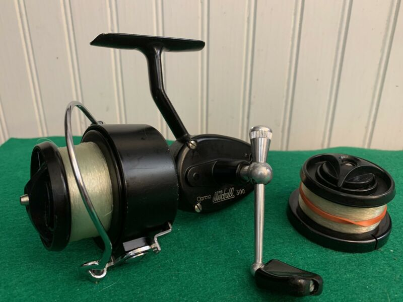 Vintage Garcia Mitchell 300 Spinning Reel Spare Spool Made In France EUC