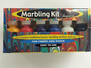 Jacquard Marbling Kit - Fun artistic creative gift idea for the family! 6 Colour