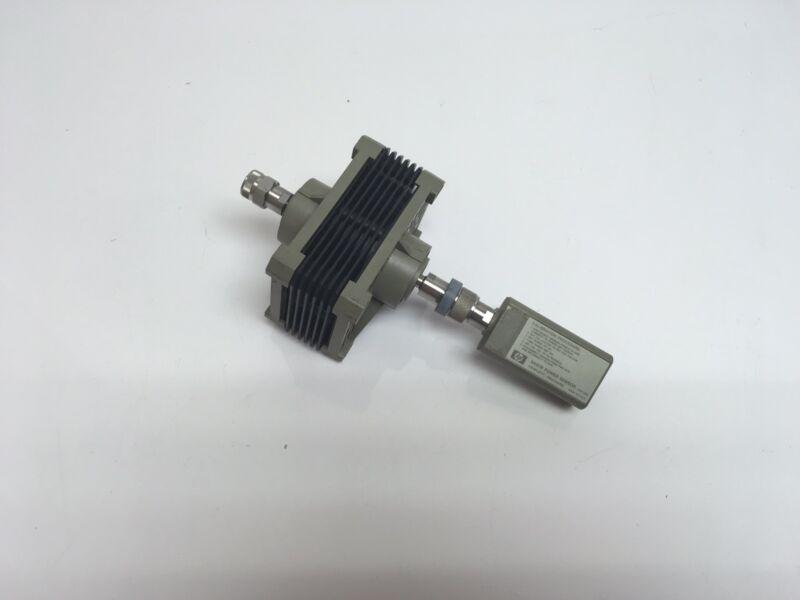 HP 8481B Power Sensor w/ 30dB Pad 10MHz-18GHz 1mW-25W TESTED