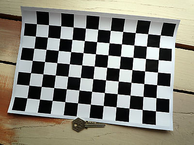 Chequered Race Flag Car STICKER Sheet Checkered Check A4 12