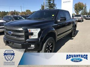 2016 Ford F-150 Lariat One Owner - Low Kms - Leather