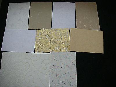 Job Lot CREATIVE Handmade Paper Pack 10 Sheets A5 NEW Neutrals TEXTURED Bargain