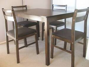 Solid Dining Table with 4 chairs, 3 months old Hornsby Hornsby Area Preview